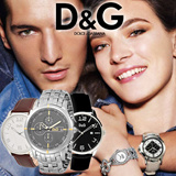 [Dolce and Gabbana]GENUINE MENS/WOMENS LEATHER WATCHES TRENDY FASHION