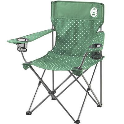 コールマン(Coleman)リゾートチェア(グリーンドット)2000026735【キャンプアウトドアバーベキュー椅子運動会】