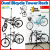 3 Design New Upgraded Version! Premium Aluminum Single / Dual Bicycle Tower Rack Stand/ Bike Stand