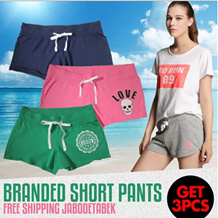 Free Shipping Jabodetabek *Buy 1 get 2 free*|BRANDED CELANA PENDEK WANITA|WOMEN|SHORT|HOT|PANTS|BAYAR 1 DIKIRIM 3 PCS