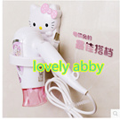 Hello kitty hair dryer toilet bathroom shelf storage racks pasted wall Dryer Rack_lovely abby
