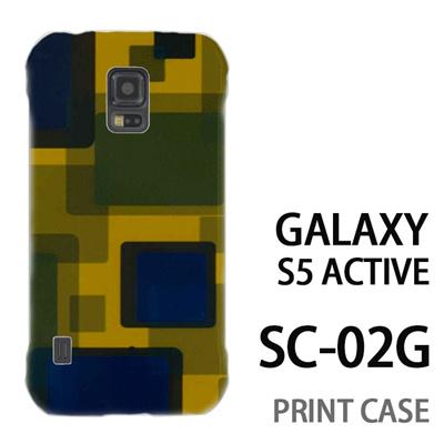 GALAXY S5 Active SC-02G 用『No3 四角の世界』特殊印刷ケース【 galaxy s5 active SC-02G sc02g SC02G galaxys5 ギャラクシー ギャラクシーs5 アクティブ docomo ケース プリント カバー スマホケース スマホカバー】の画像