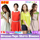 High Quality Fashion Style Plus Size/Flattering/Dress/Blouse/Plus Size S To 2XL