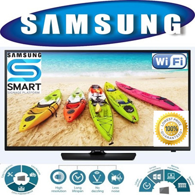 buy samsung 40inch smart digital signage hd led tv with wifi function low power consumption. Black Bedroom Furniture Sets. Home Design Ideas