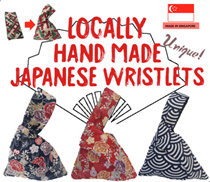 ✋MADE IN SG Hand Made Japanese Wristlet / Clutch Bag / Wallet / Gift CUSTOMISABLE EMBROIDERY SERVICE