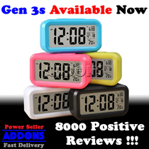Smart Digital Alarm Clock w Big Screen LED Light Sensor Control ★Best Price!!!★