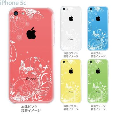 【iPhone5c】【iPhone5cケース】【iPhone5cカバー】【ケース】【カバー】【スマホケース】【クリアケース】【フラワー】【花と蝶】 22-ip5cp-ca0068の画像