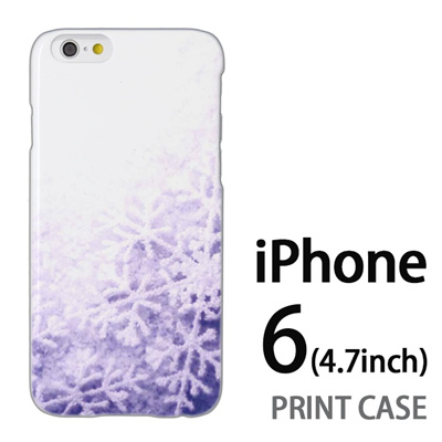 iPhone6 (4.7インチ) 用『1223 雪の結晶 水』特殊印刷ケース【 iphone6 iphone アイフォン アイフォン6 au docomo softbank Apple ケース プリント カバー スマホケース スマホカバー 】の画像