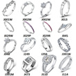 Over 60% OFF US Size 4-11 Wedding Rings for Women Crystal Engagement Swiss Diamond Ring  Jewellery Unisex Silver Party Rings for Men Women Wholesale