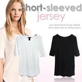 Branded Basic Tee SHORT SLEEVED JERSEY_2 Colors_High Quality_Comfortable Material_Casual Look / Tshirt / Tee / Basic Tshirt / Blouse / pakaian wanita / busana wanita