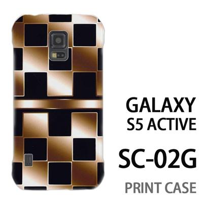 GALAXY S5 Active SC-02G 用『No3 市松柄金黒』特殊印刷ケース【 galaxy s5 active SC-02G sc02g SC02G galaxys5 ギャラクシー ギャラクシーs5 アクティブ docomo ケース プリント カバー スマホケース スマホカバー】の画像