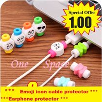 [One Space] * BUY 6 GET 1 FREE * Emoji icon cute USB COVER / Cable protector / cable holder / usb / iphone 6 / IPHONE 5 / IPHONE 4 / APPLE