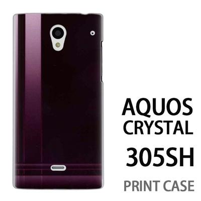 AQUOS CRYSTAL 305SH 用『No3 クロスライン 茶色』特殊印刷ケース【 aquos crystal 305sh アクオス クリスタル アクオスクリスタル softbank ケース プリント カバー スマホケース スマホカバー 】の画像