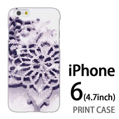 iPhone6 (4.7インチ) 用『1223 雪の結晶の文鎮 白』特殊印刷ケース【 iphone6 iphone アイフォン アイフォン6 au docomo softbank Apple ケース プリント カバー スマホケース スマホカバー 】の画像