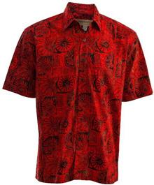 Johari West Indo Bay Tropical Hawaiian Cotton Batik Shirt