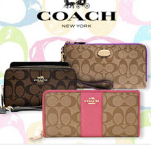 READY STOCK IN SG - COACH CONTINENTAL/ZIP AROUND LARGE WALLET