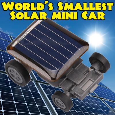 【送料無料】太陽光を当てるとよく走る世界最小クラスのソーラーカー 車玩具・おもちゃ・子ども用太陽エネルギーカー 工作 太陽 自由研究 最大気温 直射日光 真夏日 灼熱 晴れ Mini Solar Car Kitの画像