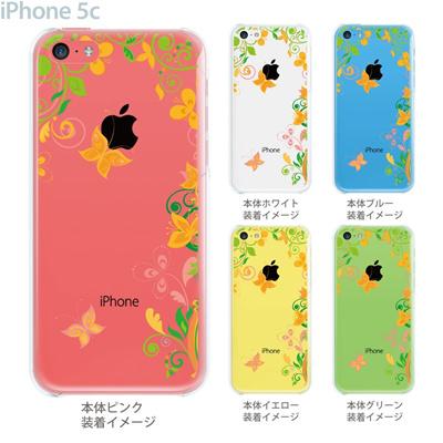 【iPhone5c】【iPhone5cケース】【iPhone5cカバー】【ケース】【カバー】【スマホケース】【クリアケース】【フラワー】【花と蝶】 22-ip5cp-ca0082の画像