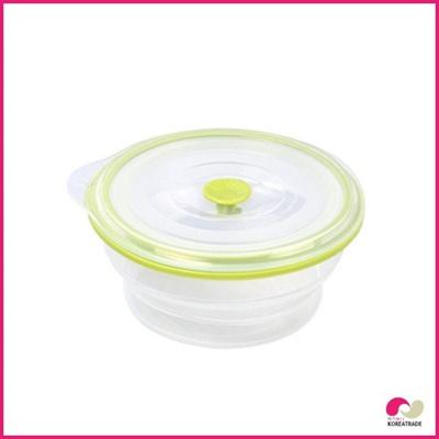 【日用品】 chaeum silicone foodシリコンフードタッパ丸形(M)HKS-507の画像
