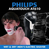 [$38.90 TODAY ONLY] 70% OFF PHILIPS AquaTouch AT610 Wet and Dry Mens Electric Shaver - 2 YEARS WORLDWIDE GUARANTEE
