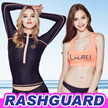 [LAUREL CROWN] [▼50%] Korea Hit★Rash Guard UPF 50+ Boardshorts Trunks Water Leggings Swimwear Beachwear  Tank top Bra top Swim suit  Couple rashguard Surfing Fitness Korean style