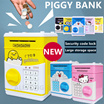 ❤PIGGY BANK❤New Cartoon Doraemon KT Cat Yellow Man Piggy Bank Money Box /Cartoon Mini ATM Password Piggy Bank Auto feed Cash Coin /Money Saving Box