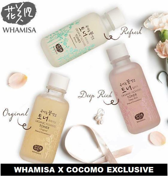 ?20 000 WORLDWIDE 5 STARS REVIEWS!!?ORGANIC WHAMISA?DEEP RICH? REFRESH?ORIGINAL TONER? Deals for only S$78.9 instead of S$0