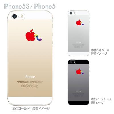 【iPhone5S】【iPhone5】【iPhone5ケース】【カバー】【スマホケース】【クリアケース】【むし】 ip5-08-ca0044の画像