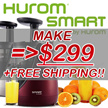 [★MAKE $299+FREE SHIPPING!!★]HUROM 2nd Generation Premium Slow Juicer NEW HUROM SMART BPA-Free