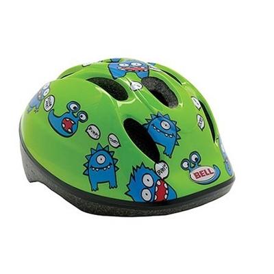 ベル(BELL) ZOOM/ズーム ヘルメット 自転車 サイクリング KIDS&YOUTH キッズ グリーンファートモンスター M/L 52-56 7048244 【子供 安全 スケート 女の子 男の子】の画像
