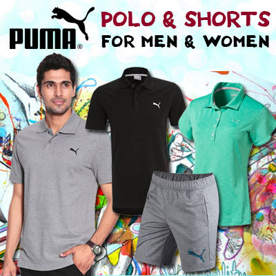 PUMA MEN AND WOMEN POLO AND SHORTS Deals for only S$49.9 instead of S$0