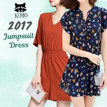 2017 NEW FASHION PRINT JUMPSUIT DRESS MUTI TYPE
