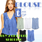 Branded BLOUSE TANK TOP_BUY 2 GET FREE SHIPPING_5 Basic Colors_High Quality_Comfortable Material_Casual look / top / dress