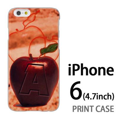 iPhone6 (4.7インチ) 用『No1 A 赤りんご』特殊印刷ケース【 iphone6 iphone アイフォン アイフォン6 au docomo softbank Apple ケース プリント カバー スマホケース スマホカバー 】の画像