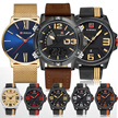 New Arrival! RESTOCKED Naviforce Mens Business Men Watch Clock Strap Leather Alarm Watches