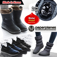 [Paperplanes] ★2018 NEW ARRIVALS★ Made in Korea Womens Warm Suede Winter Fur Snow Boots