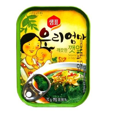 【韓国食品】 ■えごまの葉缶詰(70g)■の画像