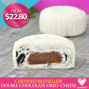 [Emicakes] NEW MOONCAKE: BESTSELLING Double Chocolate Oreo Cheesecake! Option for 2 Large at 6 locations! TILL 18 SEPT!