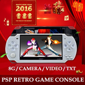 [FREE AV CABLE GIVEAWAY] PSP-style Portable Retro Game Console / Support 9000+ GBA NES Games / Large 4.3 inch Screen / Light Weight Ultra-Slim / Camera Video Recorder / Text Reader / Connection to TV