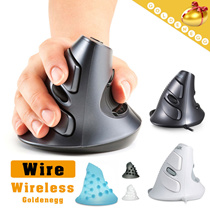 Human Engineering▶Wireless n Wired Optical Vertical Mouse◀GDC-Ergonomic Design/ Free from Hand Ache/