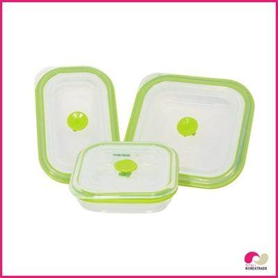【日用品】 chaeum silicone foodシリコンフードタッパ 3種セットHKS-503~HKS-505の画像