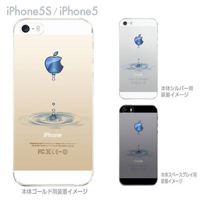 【iPhone5sケース】【iPhone5ケース】【スマホケース】【クリアケース】【クリア カバー】【ハードケース】【アップルマークから水が・・・】【イラスト】【着せ替え】【iPhone】 ip5-08-ca0046の画像