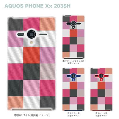 【AQUOS PHONEケース】【203SH】【Soft Bank】【カバー】【スマホケース】【クリアケース】【チェック】 06-203sh-ca0032pkの画像