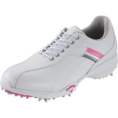 キャロウェイ(Callaway) ウィメンズ アーバンスタイル 15 JM ゴルフ スパイク WHT/PNK/SLV 【レディース 靴 シューズ】の画像