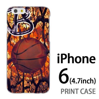 iPhone6 (4.7インチ) 用『No1 B バスケットボール』特殊印刷ケース【 iphone6 iphone アイフォン アイフォン6 au docomo softbank Apple ケース プリント カバー スマホケース スマホカバー 】の画像
