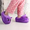 Unisex Emoji Soft Cute Cartoon Slippers Winter Warm Plush Indoor Home Slippers Purple