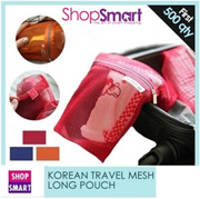 Local Delivery**NEW ARRIVAL**Korean Mesh Pouch Long Ultra Light Travel Pouch Travel
