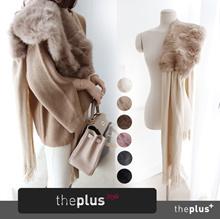 リアル毛皮のショールマフラー ♥ピンクカラー追加♥ リアルファー/ラグジュアリーなムード演出! 今から真冬まで♪ 保温性Good👍~6color ラビットファーマフラー