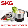[SKG] Electric Mini Cooker JR10A - 1 Year Local Warranty with Safety Mark Approved/ Sole Exclusive Distributors in Singapore
