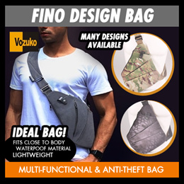 SG SELLER ! Fino design Bag/cross sling slim/ Multi-Functional Business Shoulder Bag/Anti Theft
